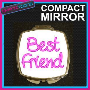 BEST FRIEND COMPACT LADIES METAL HANDBAG GIFT MIRROR